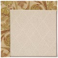 Capel Rugs Creative Concepts White Wicker - Cayo Vista Sand (710) Rectangle 4