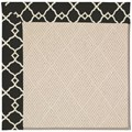 Capel Rugs Creative Concepts White Wicker - Arden Black (346) Rectangle 6