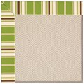 Capel Rugs Creative Concepts White Wicker - Tux Stripe Green (214) Rectangle 7