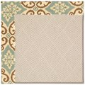 Capel Rugs Creative Concepts White Wicker - Shoreham Spray (410) Rectangle 7