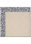 Capel Rugs Creative Concepts White Wicker - Coral Cascade Navy (450) Rectangle 8' x 10' Area Rug