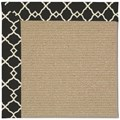 Capel Rugs Creative Concepts Sisal - Arden Black (346) Octagon 8