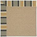 Capel Rugs Creative Concepts Sisal - Long Hill Ebony (340) Octagon 12