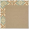Capel Rugs Creative Concepts Sisal - Shoreham Spray (410) Octagon 12