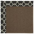 Capel Rugs Creative Concepts Java Sisal - Arden Black (346) Octagon 8