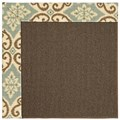 Capel Rugs Creative Concepts Java Sisal - Shoreham Spray (410) Octagon 12