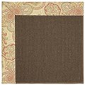 Capel Rugs Creative Concepts Java Sisal - Paddock Shawl Persimmon (810) Octagon 12