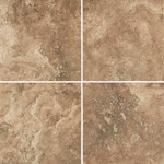 "Daltile Esta Villa: Cottage Brown 18"" x 18"" Glazed Porcelain Tile EV991818P1P2"