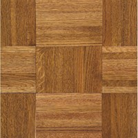 "Armstrong Urethane Parquet Oak: Honey 5/16"" x 12"" Solid Oak Hardwood 112140 <br> <font color=#e4382e> Clearance Sale! <br>Lowest Price! </font>"