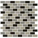"Daltile Mosaic Traditions: Evening Sky 3/4"" x 1-1/2"" Glass Brick-joint Mosaic Tile BP97-34112BJMS1P"