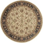 "Surya Ancient Treasures Jet Black (A-116) Round 8'0"" x 8'0"""