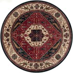 "Surya Ancient Treasures Federal Blue (A-134) Round 8'0"" x 8'0"""