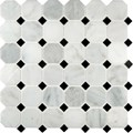 "MS International Arabescato Carrara Marble Mosaic Octagon 12"" x 12"" : SMOT-ARA-2OCT"