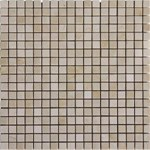 "MS International Crema Marfil Marble Mosaic 12"" x 12"" : SMOT-CREM-5/8-P"