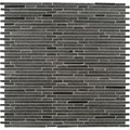 "MS International Hatch Blue Bamboo Pattern Basalt Mosaic 12"" x 12"" : SMOT-BSLTB-BMP10MM"