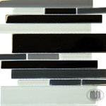 "MS International Black Blend Glass RSP Glass Mosaic 12"" x 12"" : SMOT-GLS-RSPBLK"