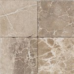"Daltile Tumbled Stone: Emperador Light 12"" x 12"" Natural Stone Tile TS4712121P"