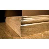 "Kahrs Linnea City Collection:  Wall Base Walnut Natural - 96"" Long"