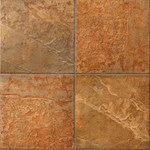 "Mannington Serengeti Slate: Safari Sunset 6"" x 6"" Porcelain Tile SS1T06"