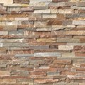 "MS International Golden White Ledger Panel 6"" x 24"" Natural Slate Wall Tile : LPNLQGLDWHI624"