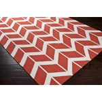 "Surya Jill Rosenwald Fallon Coral (FAL-1054) Rectangle 3'6"" x 5'6"""